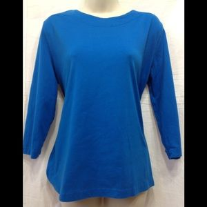 Women's size Large SOUTHERN LADY turquoise top